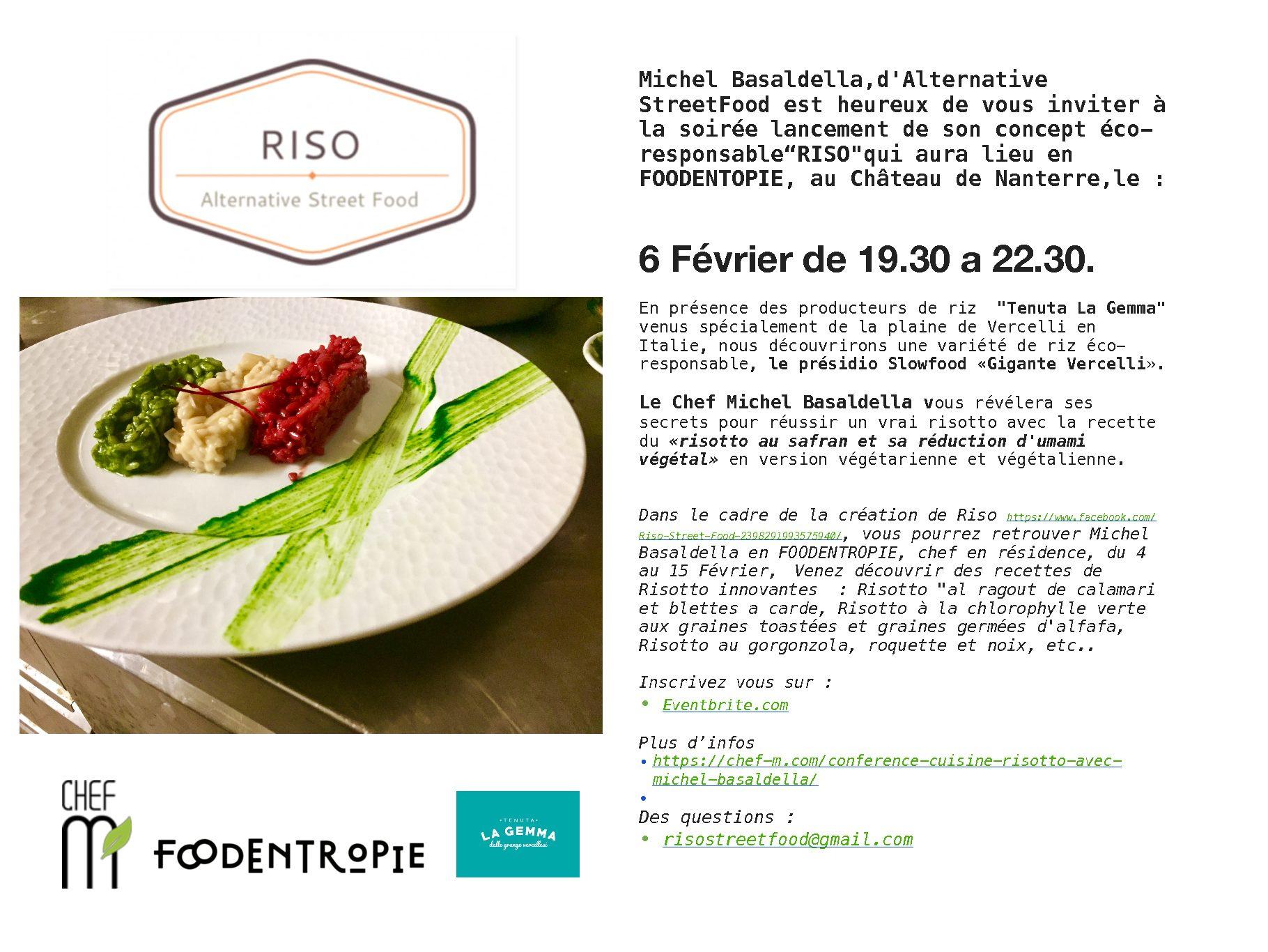 Master Class Risotto dans le 'centre étic' Foodentropie